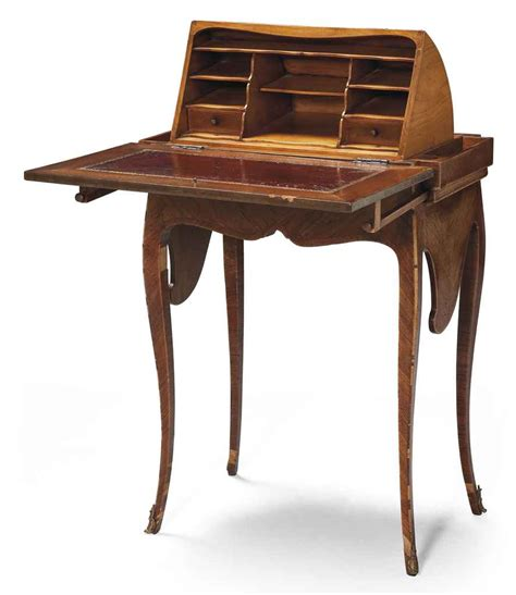 Petit Bureau En Capucin De Style Louis Xv Christie S Petit Bureau Bois