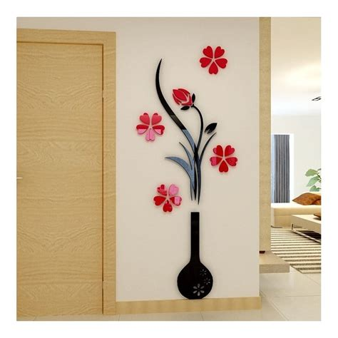 plastic wall decor buy vase plum flower acrylic wall at elifor pk