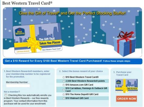 Best Western Hotel Gift Cards - best western 100 gift card earns 2 500 bonus points or 10 bonus loyalty traveler