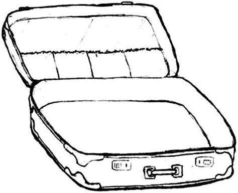 blank suitcase template colouring pages what would and suitcases on