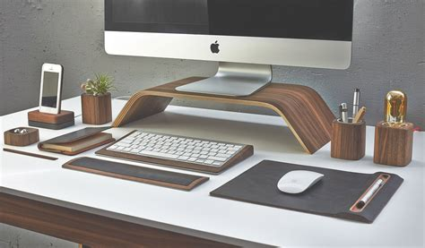 Professional Desk Accessories The Desk Collection By Grovemade Ergonomics Just Got Homeli