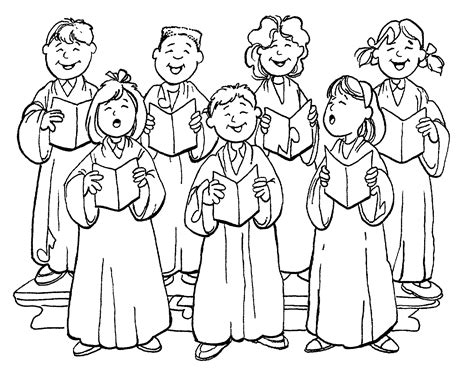 choir coloring pages children s worship and bulletin