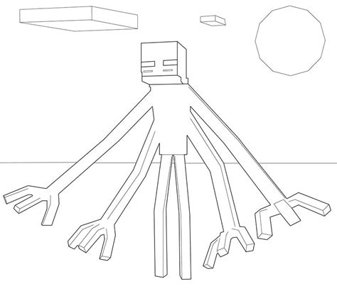 minecraft mutant enderman coloring pages www pixshark