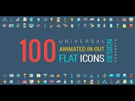 Animated Flat Icons And Concepts Pack After Effects Template Youtube Animated Emoticons Pack After Effects Template