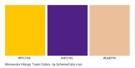 viking colors minnesota vikings team color scheme 187 brand and logo