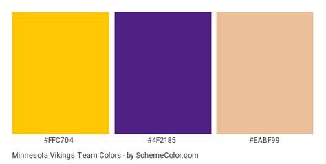 minnesota vikings team color scheme 187 brand and logo