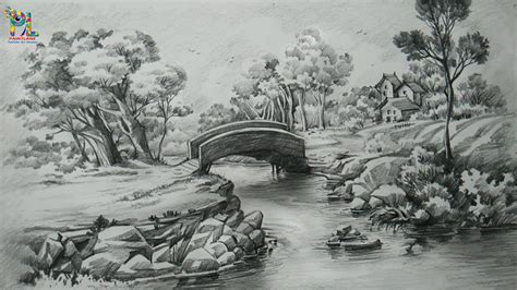 Drawing Images by Pencil Landscape Drawing Landscape Pencil Drawing
