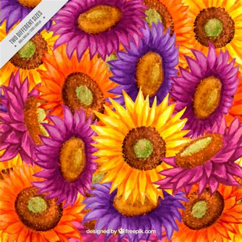 colors of sunflowers artistic colors sunflowers background vector premium