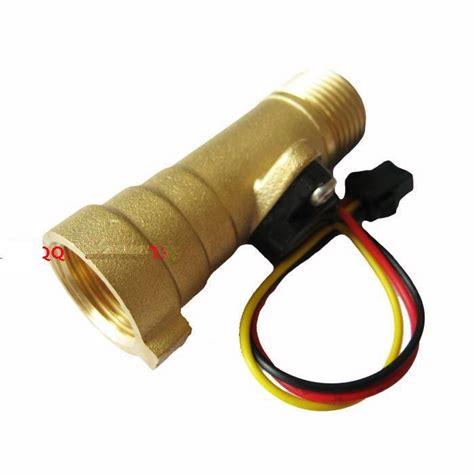 Water Flow Sensor 1 2 Brass Copper Waterflow free shipping 1 30l min g1 2 brass water heater flow sensor meter in flow sensors from industry