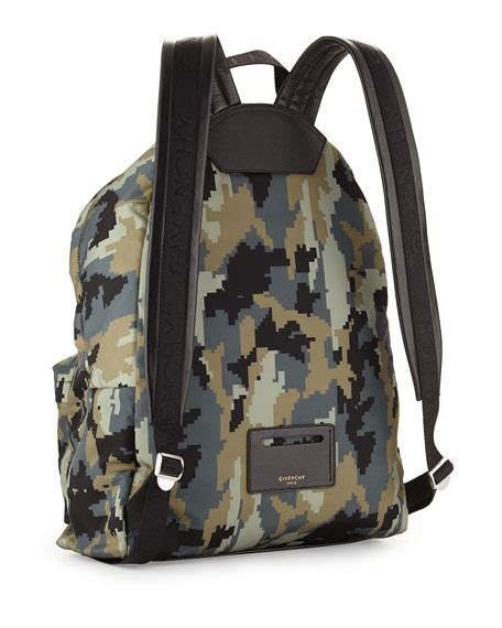 Camo Print Backpack givenchy digital camo print backpack green