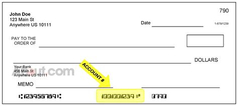 cheque bank account find your account number on a check