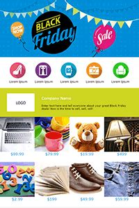 It S Holiday Email Marketing Time Let S Get This Party Started Black Friday Email Template