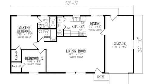 1000 square foot floor plans 1000 square 2 bedrooms 2 batrooms 1 parking space on 1 levels house plan 20146 all