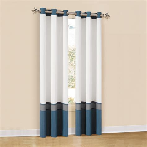 3 panel window curtains pair of oxford lined three tone grommet panel curtains