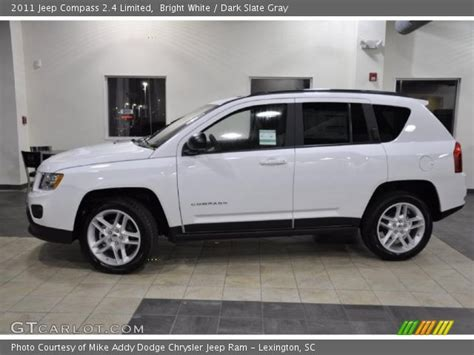 Jeep Compass 2011 White Bright White 2011 Jeep Compass 2 4 Limited Slate
