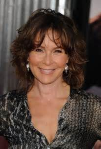 mid lengh hairstyles for over 50 with fringe jennifer grey medium messy hairstyle with bangs for women