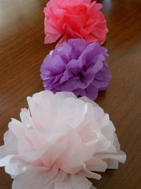 How To Make Flat Tissue Paper Flowers - how to make tissue paper flowers napkin rings for a tea
