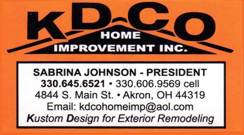contact us kdco home improvement
