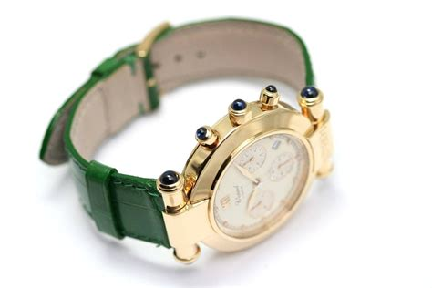 Chopard Number Leather White 1 chopard yellow gold imperiale chronograph wristwatch for