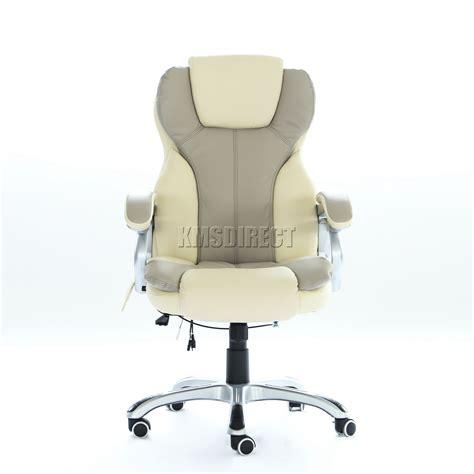 massaging office desk chair foxhunter luxury 6 point massage office computer chair