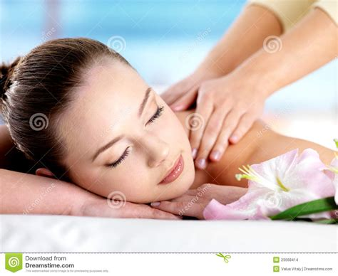 full body massage for women or ladies in gurgaon new woman having body massage stock photo image of nature
