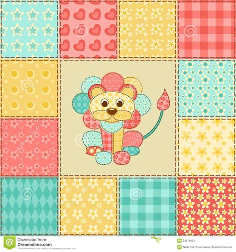 Patchwork Patterns Free - patchwork pattern stock photos image 34616923