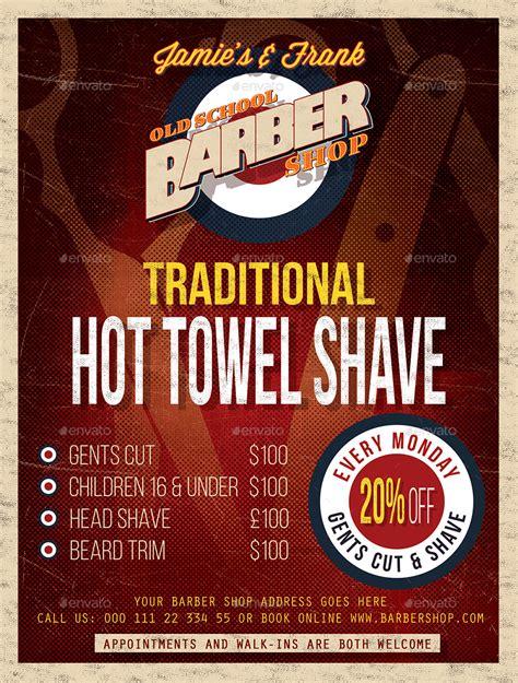 barber shop price list template barber shop flyer template by designroom1229 graphicriver