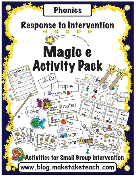 peterson s pad magic e consonant vowel blends worksheets for kindergarten