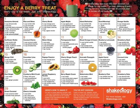 printable shakeology recipes 17 best images about shakeology recipes on pinterest