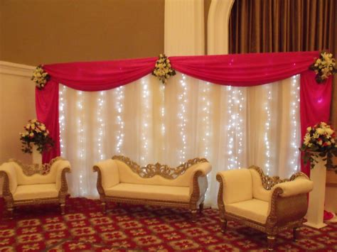 Stage Curtain Rental Wedding Balloons Fresh Amp Silk Flowers Pew End Bows Chair
