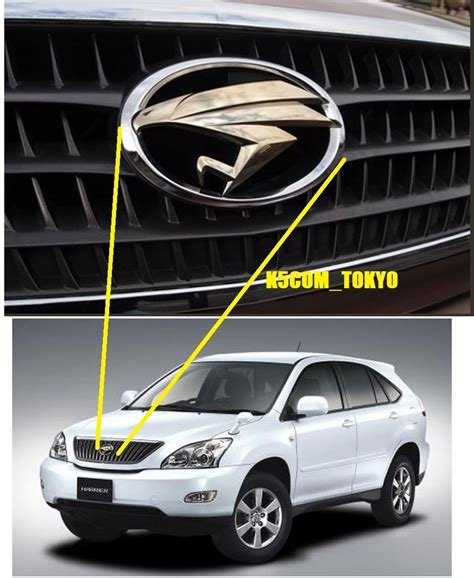 gold lexus logo oem jdm toyota harrier gold eagle emblem for lexus rx