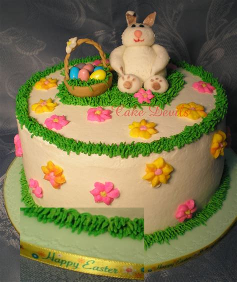 Handmade Cake Decorations - fondant bunny rabbit animal cake topper bunny cake