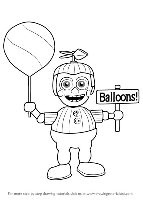 fnaf coloring pages balloon boy learn how to draw balloon boy from five nights at freddy s