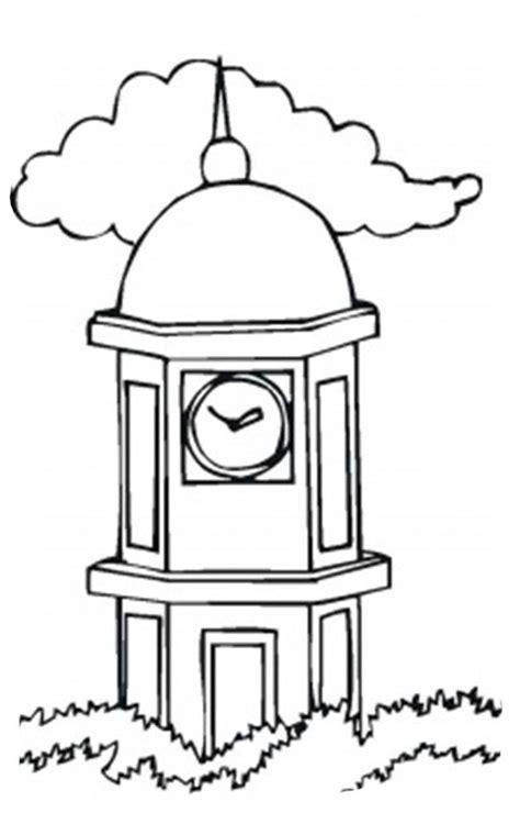 desenho rel 243 gio na torre colorir tudodesenhos