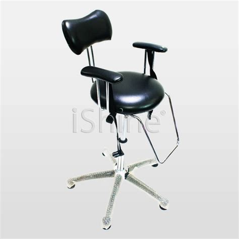 Salon Stools On Wheels by Lucent Black Barber Shop Stool With Wheels