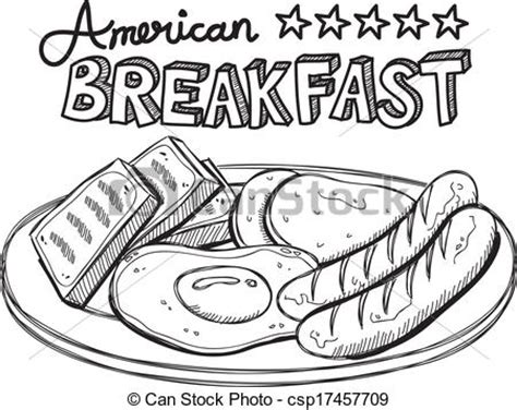 vector clipart of american breakfast csp17457709 search