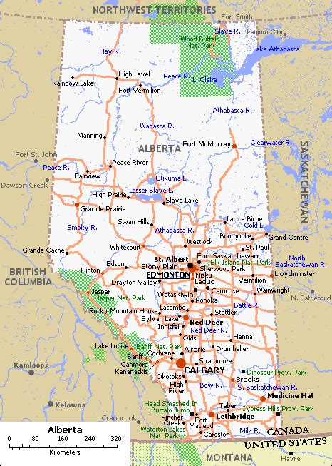 alberta canada maps maps of canada provinces political and territories