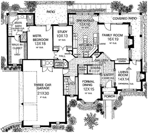 floor plans with garage on side house plan master on garage side house plans pinterest