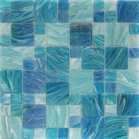 splashback tile aqua blue sky french pattern glass floor and wall tile 3 in x 6 in tile