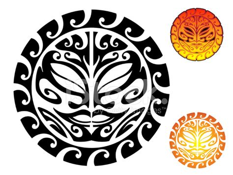 tribal tattoo sun stock vector freeimages com