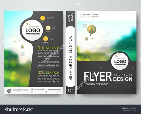 Flyers Design Template Vector Brochure Report Business Magazine Poster Cover Book Mi Flyers Design Templates