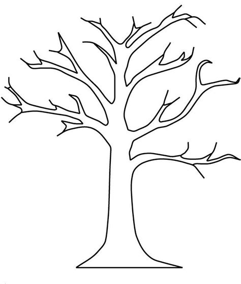 Tree Without Leaves Coloring Pages | tree without leaves coloring page az coloring pages