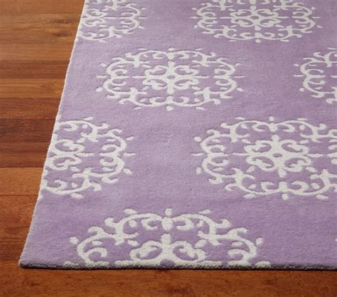 Lavender Rugs For Nursery by Medallion Rug Pottery Barn