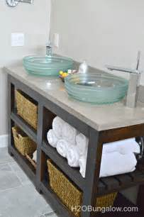 build an open shelf bathroom vanity hometalk