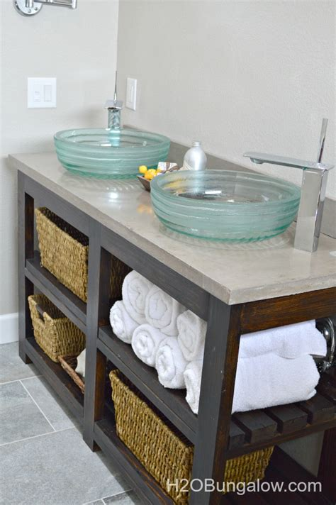 hometalk build an open shelf bathroom vanity