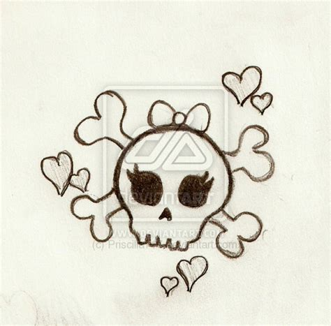 cute skull tattoo designs girly skulls wallpaper