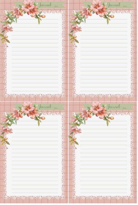 printable stationery cards glenda s world pink hibiscus stationary and journal cards