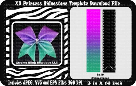 xb princess cheer bow template download xtreme bling