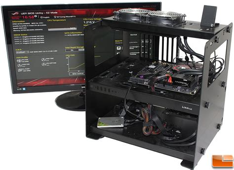 gaming bench asus rog strix z270g gaming matx motherboard review page