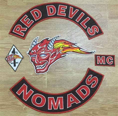 Set Mc 5pcs set devils embroidery biker patch iron on jacket